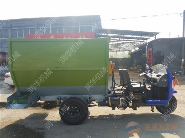 牧草撒料车 操作简单的喂料机 牲畜饲养电动撒料车
