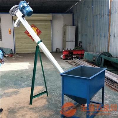 螺杆式圆管提升机粉料颗粒类运输用移动式饲料颗粒提升机