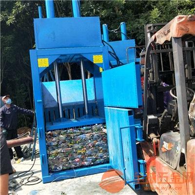 立式10噸單缸液壓廢紙打包機鄂爾多斯礦泉水瓶液壓壓縮