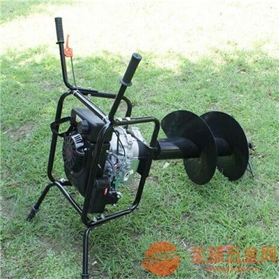 郴州双人操作打坑机实物图汽油大功率挖坑机