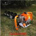 螺旋挖树坑钻孔机 多功能打洞机 手推汽油动力挖坑机图片