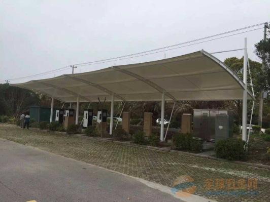 杭州膜结构车棚,停车棚,自行车车棚。