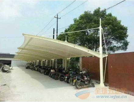 晋江汽车棚,膜结构车棚。