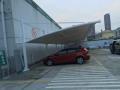溧阳汽车棚定制,膜结构车棚安装