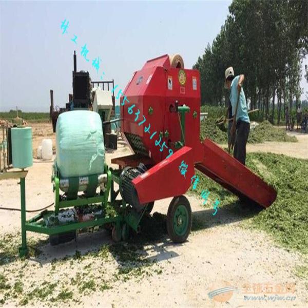 临沧牧草青贮打捆包膜机操作视频