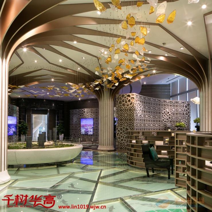 华高建材铝方通-造型铝方通-弧形铝方通-吊顶幕墙门头