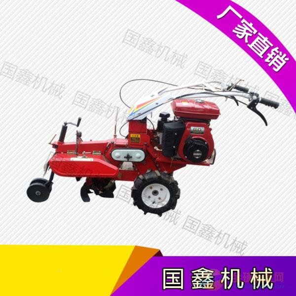 手扶式柴油拖拉机旋耕机 农用手扶耕地旋耕机