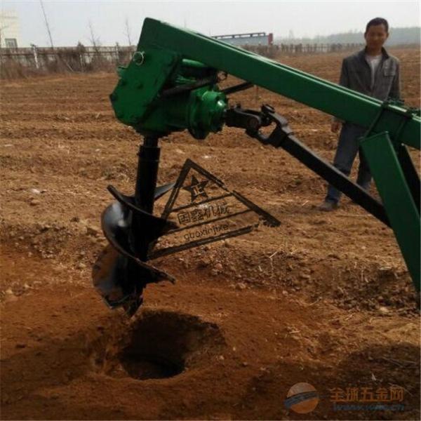 厂家热销拖拉机牵引式挖坑种植机
