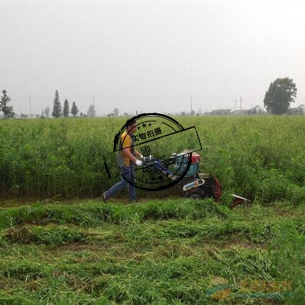手扶式药材收割机四轮带动艾草收割机新兴区