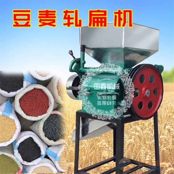 潮南区新款立式挤扁机豆子粮食挤扁机