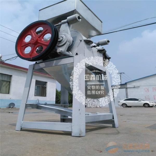 沙湾县豆子挤扁机玉米破碎机 商用对辊式大豆挤扁机
