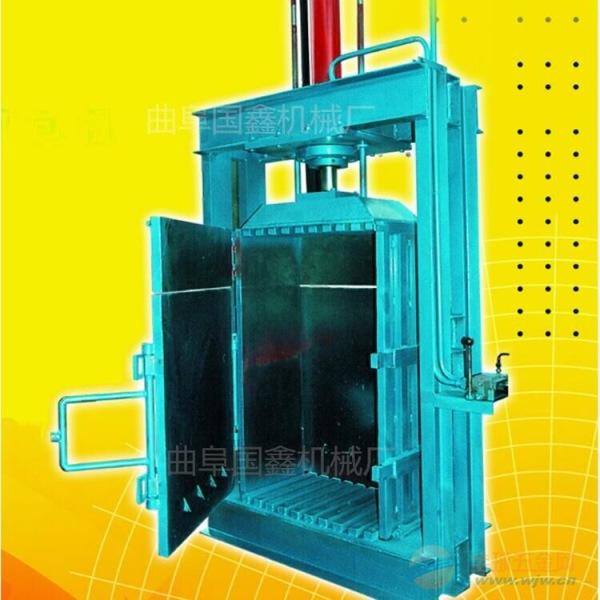 张掖 多功能压缩机价格 稻壳棉籽壳压缩立式液压打包机