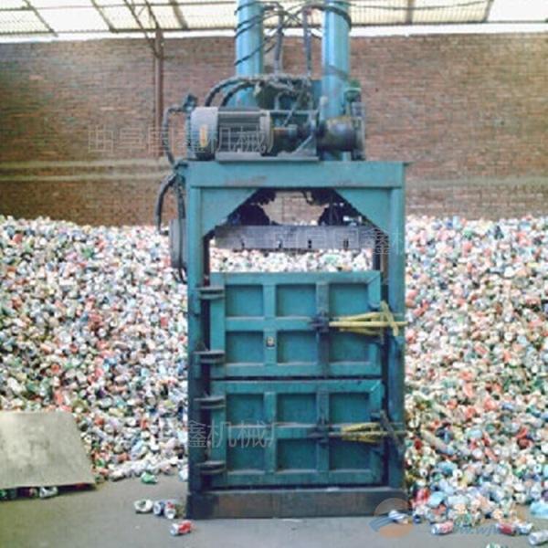 朝阳 钢带废纸打包机 60吨双缸液压打包机