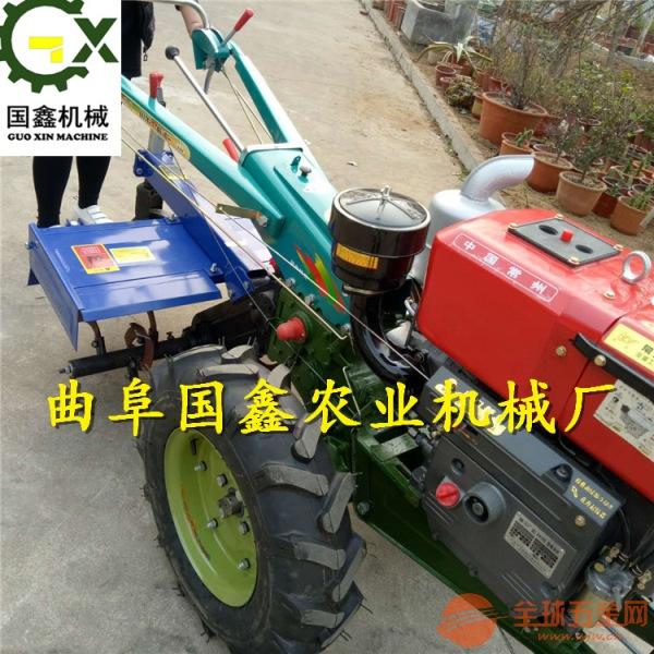 手扶拖拉机带后座蚌埠汽油松土犁地旋耕机