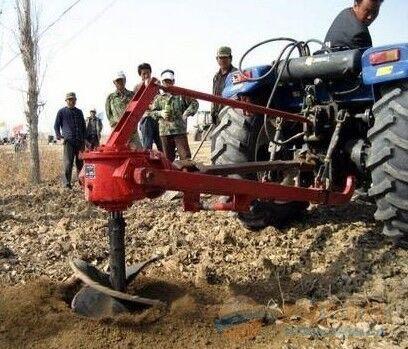 四轮拖拉机挖穴机 大功率挖坑机