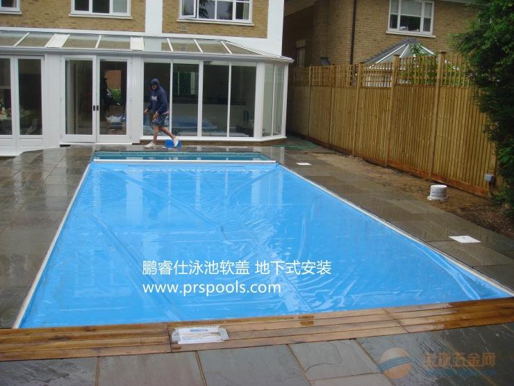 游泳池电动膜盖 泳池自动盖膜