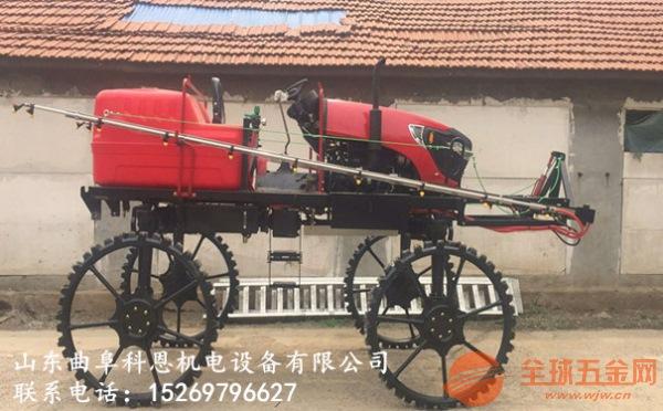 山东济宁自走式四轮打药机水稻打药机真正的厂家