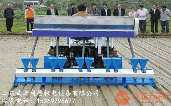 山东地区自走式四轮水稻精量播种机出厂价