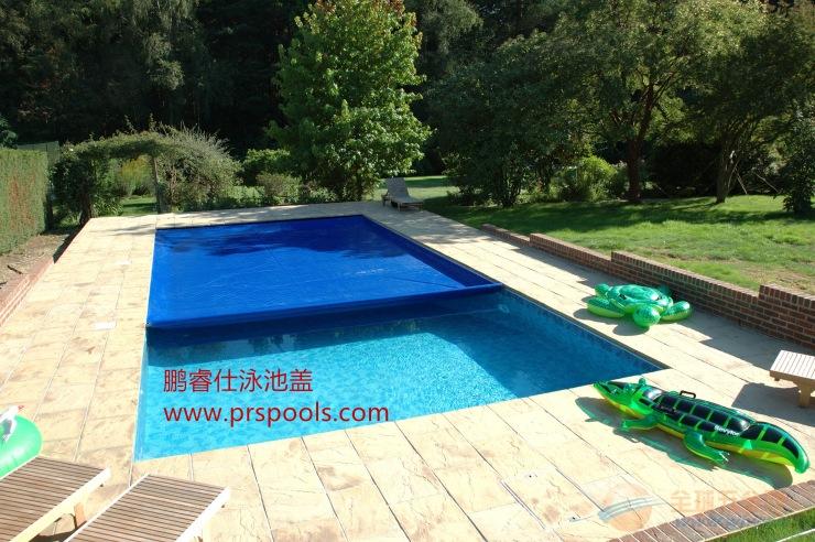 游泳池自动安全盖 优质定制 方案 轨道式安全保护泳池安全