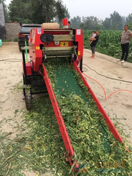 易县林工机械厂青饲料打包机价格 包膜机厂家直销 捡草机