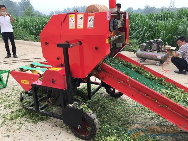 临沧林工机械秸秆打捆机厂 麦草打捆机 小麦秸秆自动捡拾打捆机