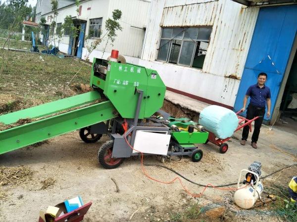 张掖林工机械厂圆草捆机器 打捆包膜机 稻捆机