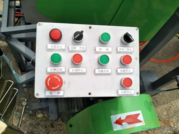 林工机械定州打捆包膜机 青储机厂家 自走式麦草打捆机