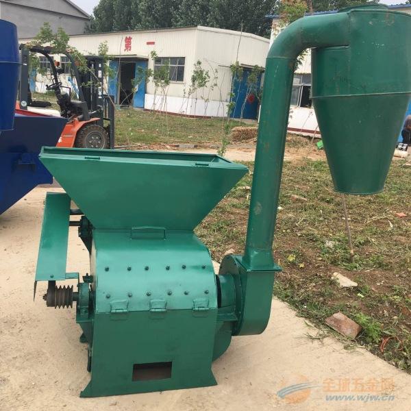 明溪县小型秸秆粉碎机 锤式饲料粉碎机 自动拨料粉碎机