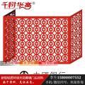 红色户外镂空雕花铝合金空调罩