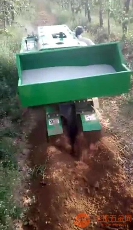 履带式开沟机 推广全自动除草施肥回填机