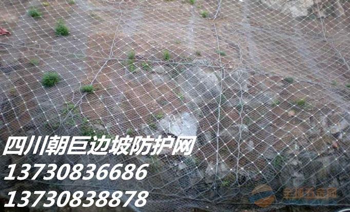 成都边坡防护网、成都山体落石防护网、成都钢丝绳网