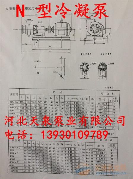 尚志100NB60冷凝泵_100NB60卧式冷凝泵