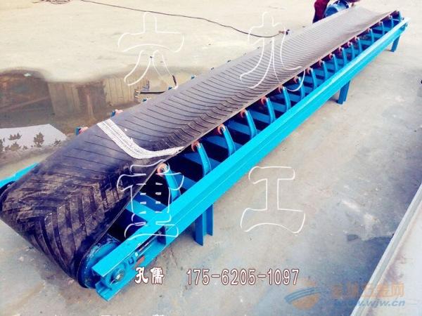 手摇升降式皮带输送机 大型矿用皮带机 圆管支架皮带机