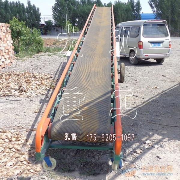 袋装粮食移动式皮带输送机 移动装卸输送机