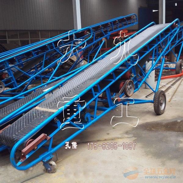 水平矿用皮带输送机定制 槽钢主架输送机加厚橡胶带