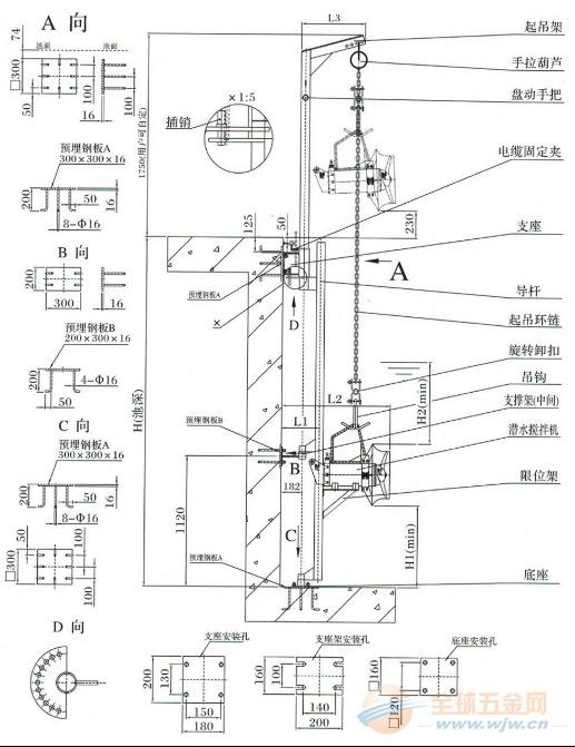 15kw潜水搅拌机的电流 消化池搅拌机接线图