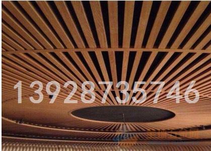 商场专用U型木纹铝方通天花吊顶