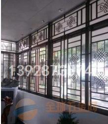 郑州别墅区铝合金窗花 港式铝窗花 防护格式铝窗花