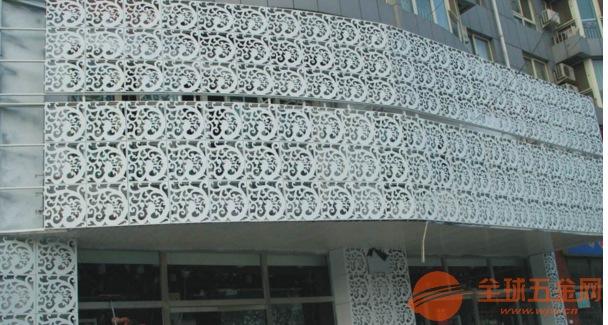大庆安岭市商铺门头雕刻镂空铝单板