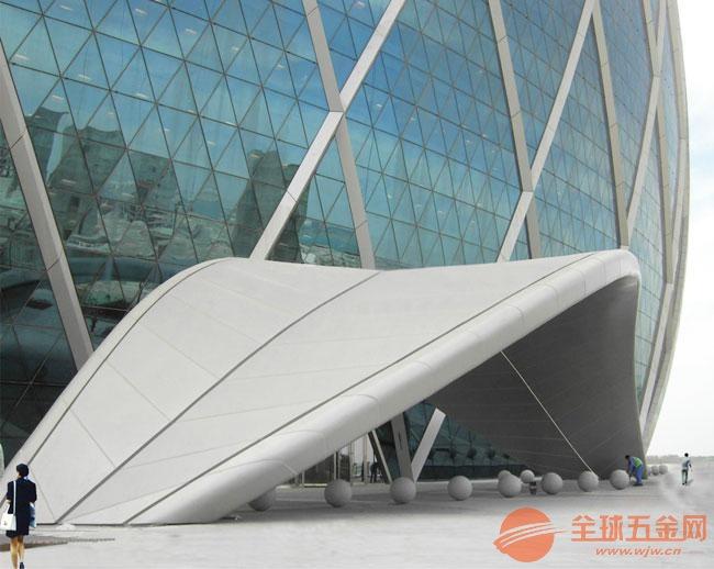 学校图书馆门头弧形造型铝单板 门头形状名片铝单板