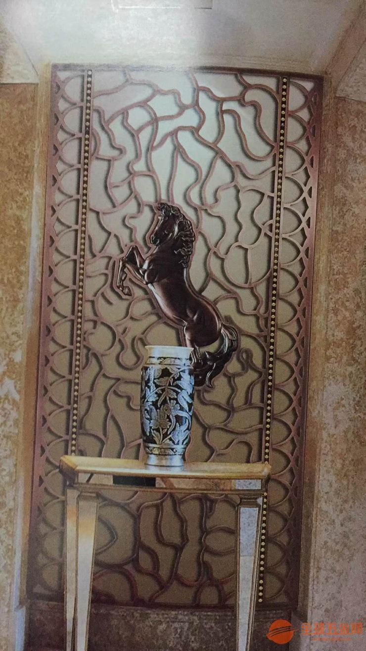 酒店前台服务区镂空雕刻屏风 背景墙雕刻板