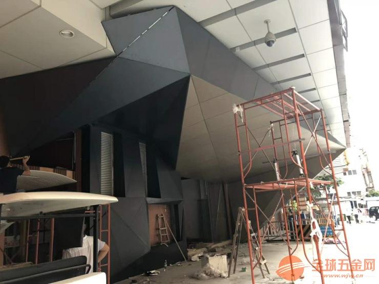 商铺门头弧形造型铝单板 厂家定制3D立体效果铝单板