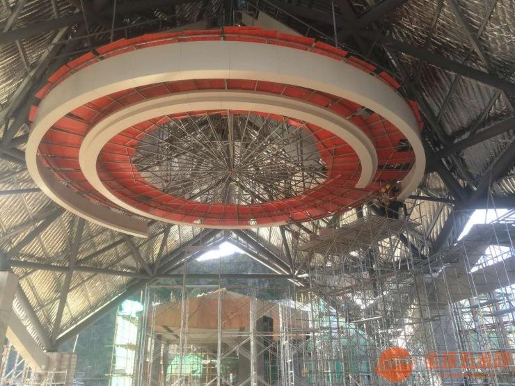 景区造型铝单板吊顶 镂空铝单板 吊顶设计图展示