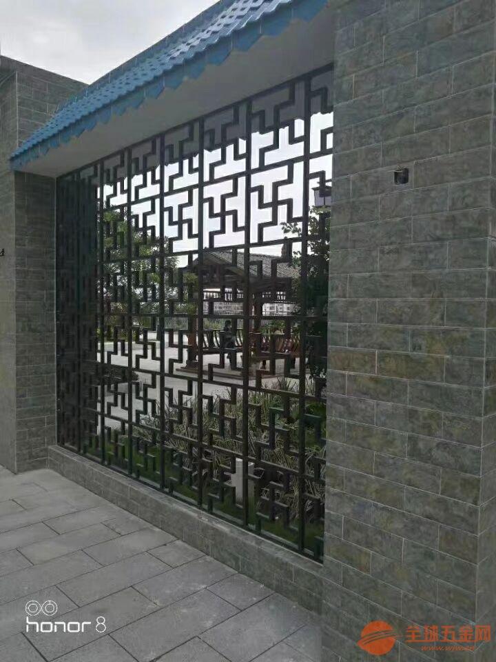 云南丽江度假区铝窗花 木纹铝窗花 铝窗花领航者