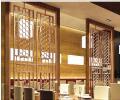 庄园酒店铝屏风 雕刻镂空铝屏风 简约风格品牌屏风