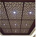 别墅区镂空铝单板吊顶 格子铝单板 雕刻镂空吊顶