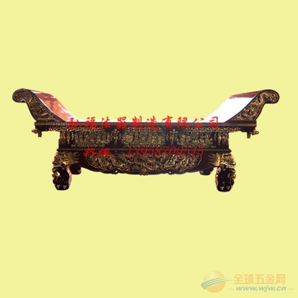 香樟木精工雕刻元宝桌 寺庙仿古供桌