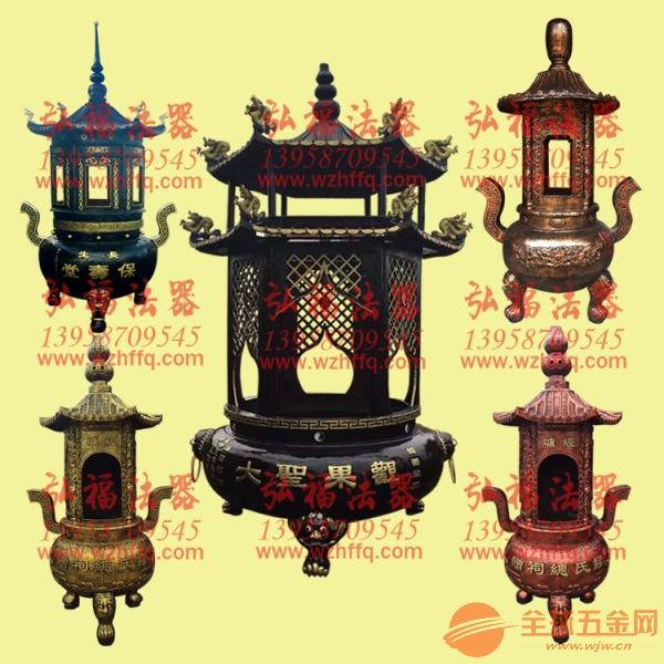 寺庙六角塔式化宝炉/六角二层烧纸炉/佛堂元宝炉