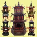 塔形烧纸炉,弘福法器供应塔形化纸炉,三层焚纸炉