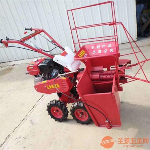 小型玉米收割机 自走式单行玉米收获机